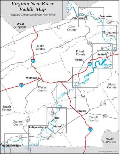 Virginia Map Rivers