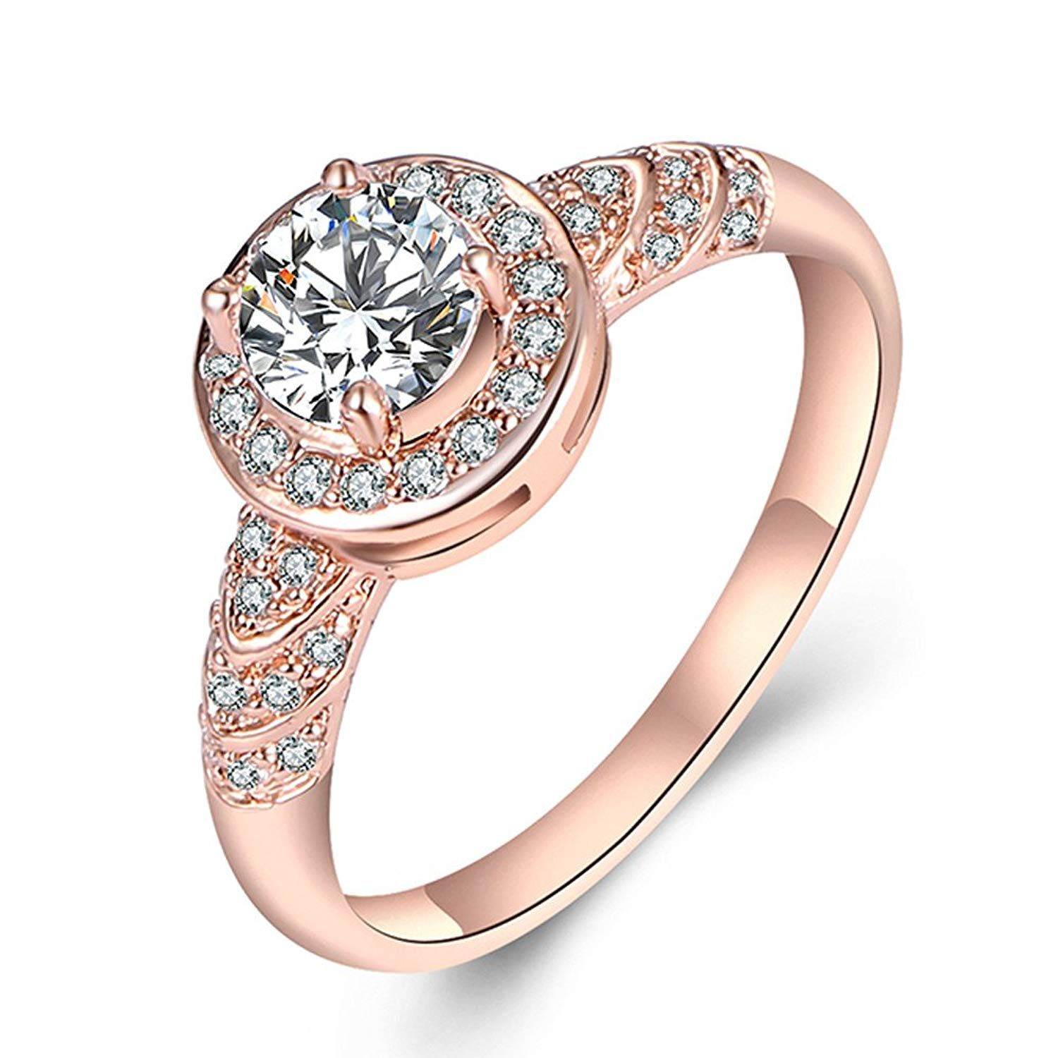 JUST N1 Black Friday Deals Womens Jewelry 18k Rose Gold