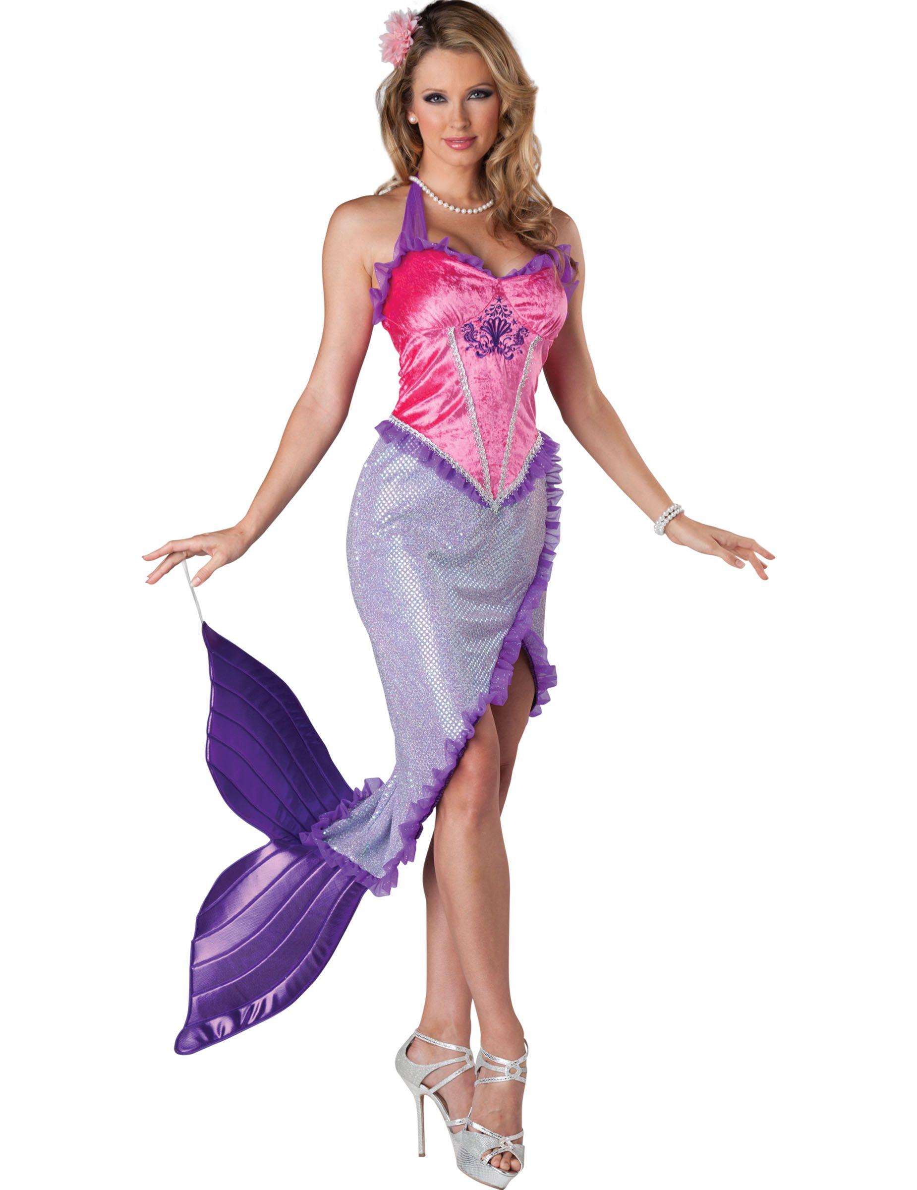 4c84ab044 Disfraz Sirena para mujer Premium   Costumes   Vestido cola de ...