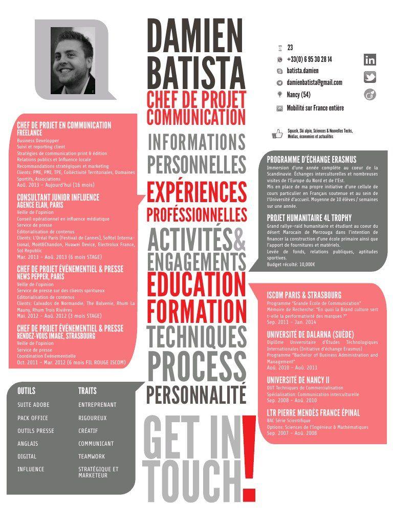 Damien Batista Cv Charge De Communication Business Developper Damien Batista Cv C Cv Charge De Communication Chef De Projet Communication Communication