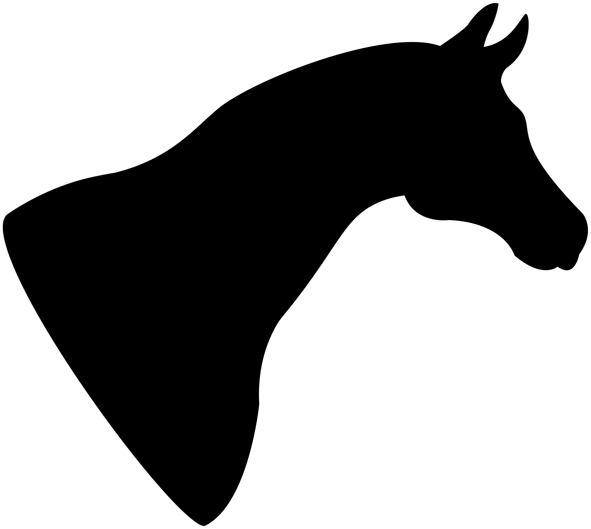 Clipart Horse Head Silhouette Horse Head Horses Silhouette