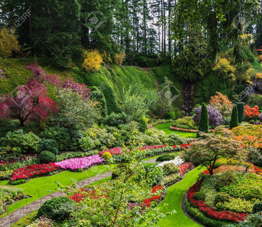 beautiful gardens vancouver | Butchart gardens, Dream ...