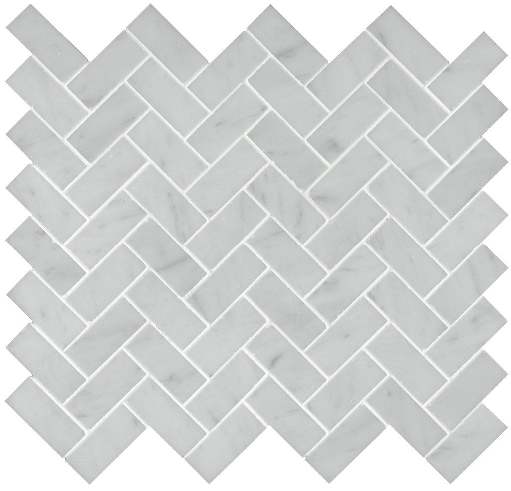 another good gray tile option layed in a herringbone pattern is