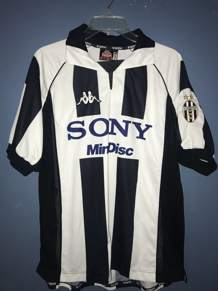 premium selection 16c57 5a303 Vtg Kappa Juventus Football Soccer Jersey Short Sleeve Sony ...