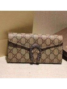 0118735d4fde Gucci Dionysus GG Supreme Chain Wallet Beige