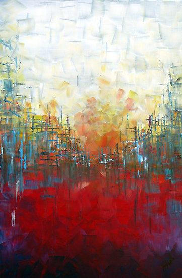 Samuel Durkin Artist Samuel Durkin Portfolio Red Landscape Perspective Painting Art Modern Painting