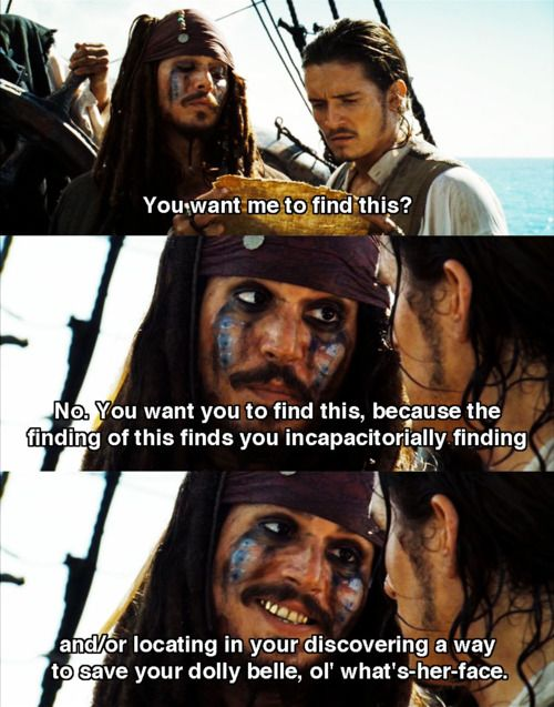 Pirates of the Caribbean: Dead Man\'s Chest. Jack logic ...