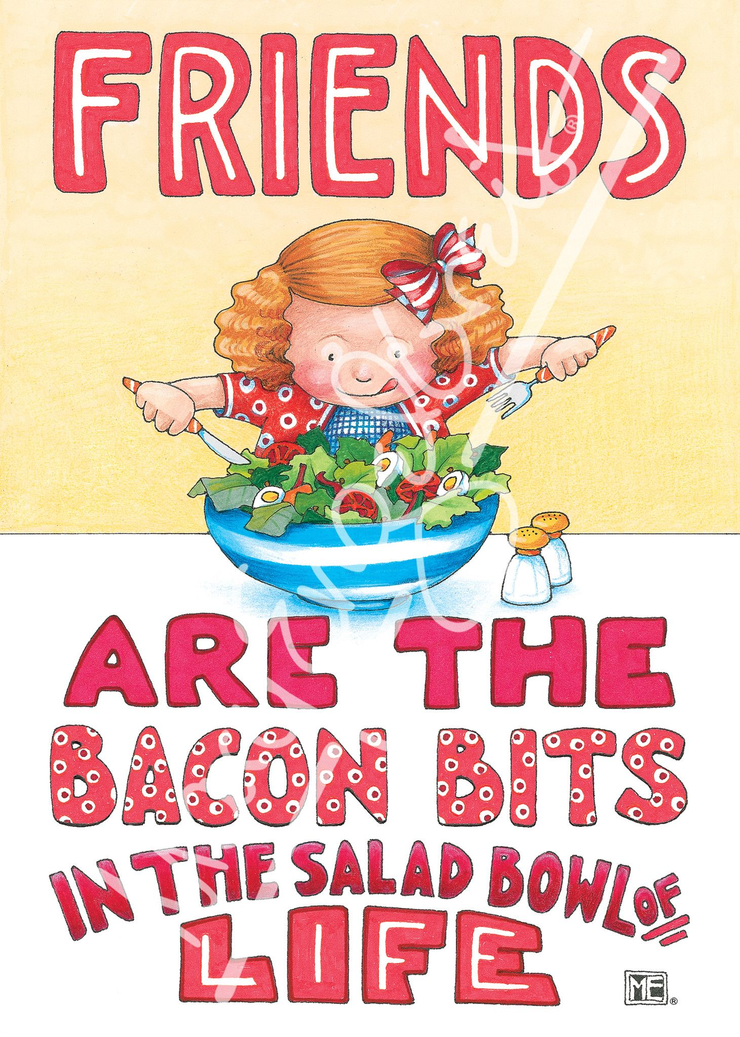 Bacon Bits Greeting Card The Amazing Ms Mary Englebriet