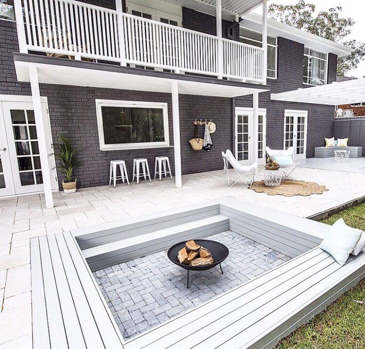 Love the Fire conversation pit - via threebirdsrenovations | Home ...