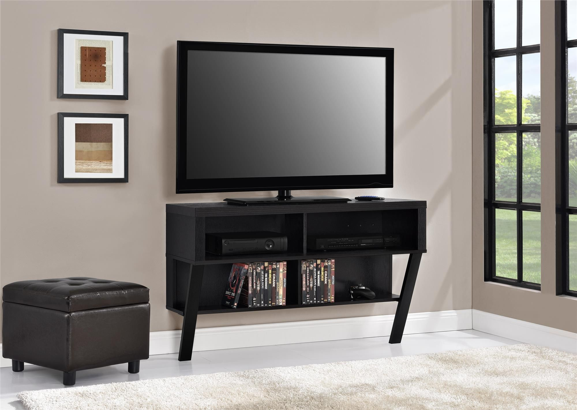 Perfect For Small Spaces The Ameriwood Home Layton Wall Mounted Tv Stand For Tvs Up To 47 Wall Tv Stand Wall Mount Tv Stand Wall Mounted Tv