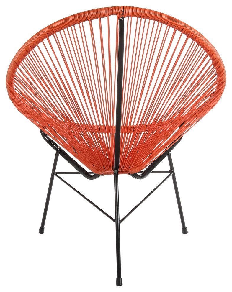 Acapulco lounge chair indoor and outdoor orange lounge