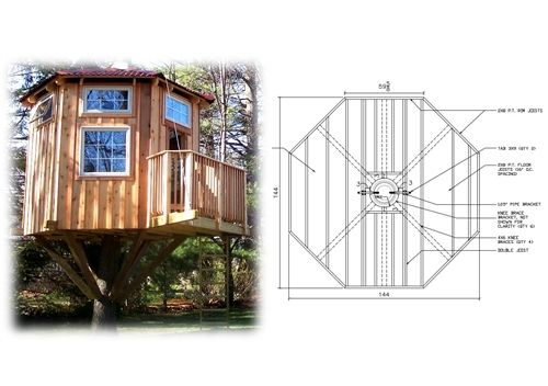 16' Diameter Octagonal Treehouse Plan | Treehouse, Hardware and Tree on online blueprints, online furniture, online magazines,