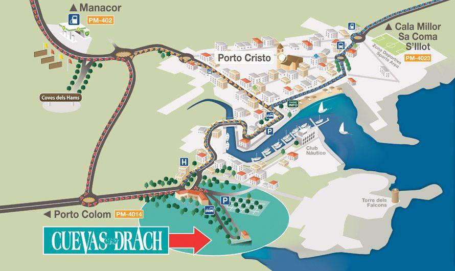 Afbeeldingsresultaat voor Coves del Drach map