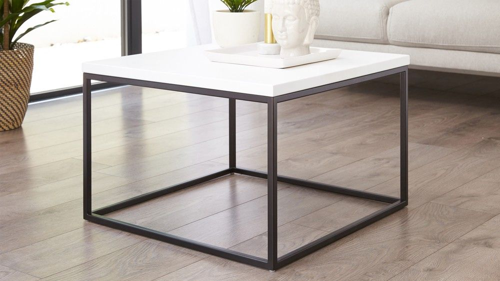 large white coffee table square