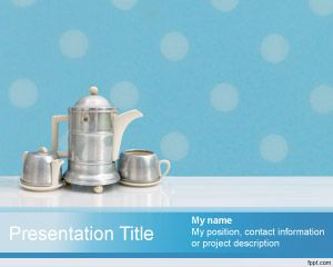 Tea Set Powerpoint Template Is A Free Tea Set Background For Power