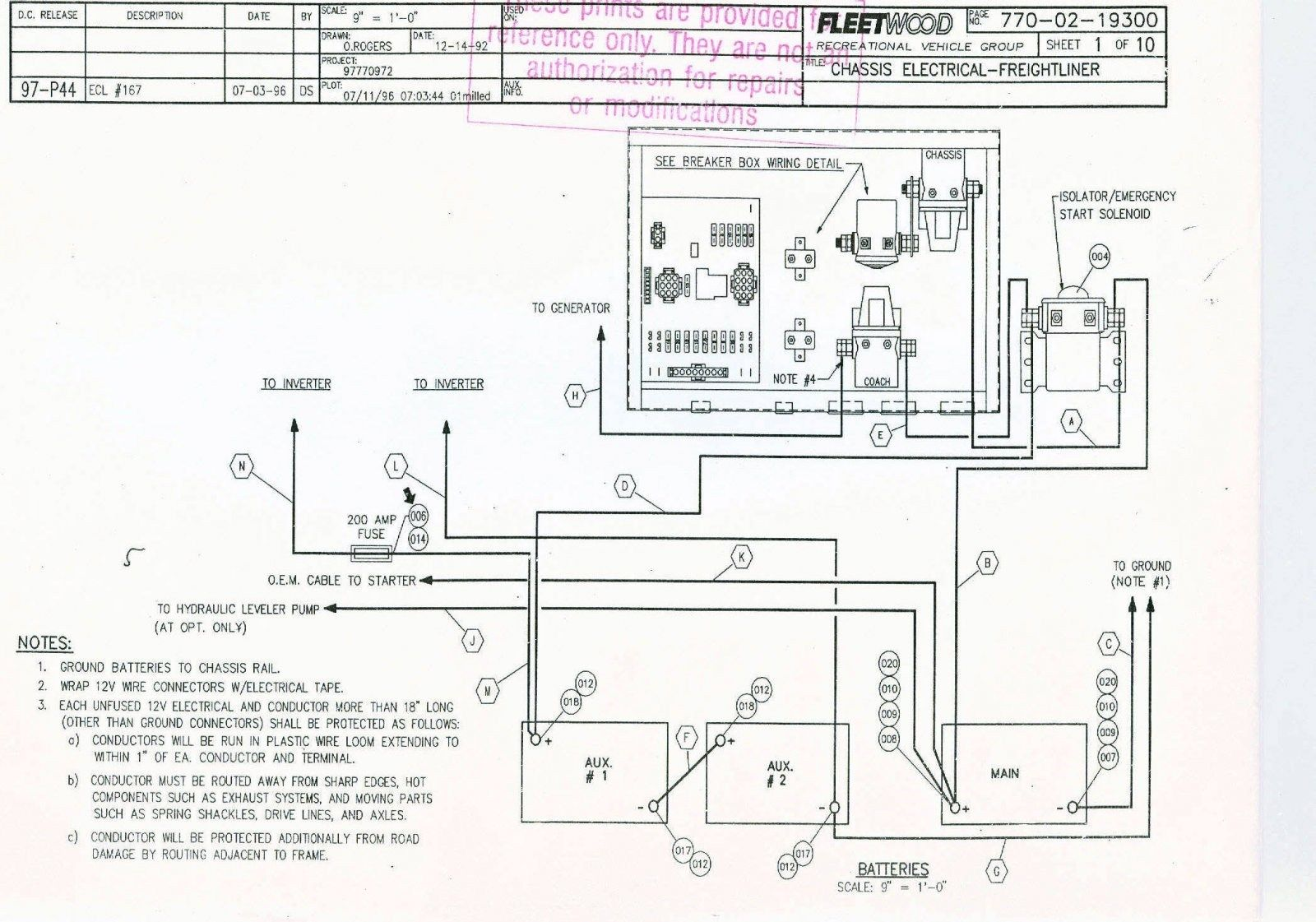 Freightliner M2 Chassis Module Wiring Diagram