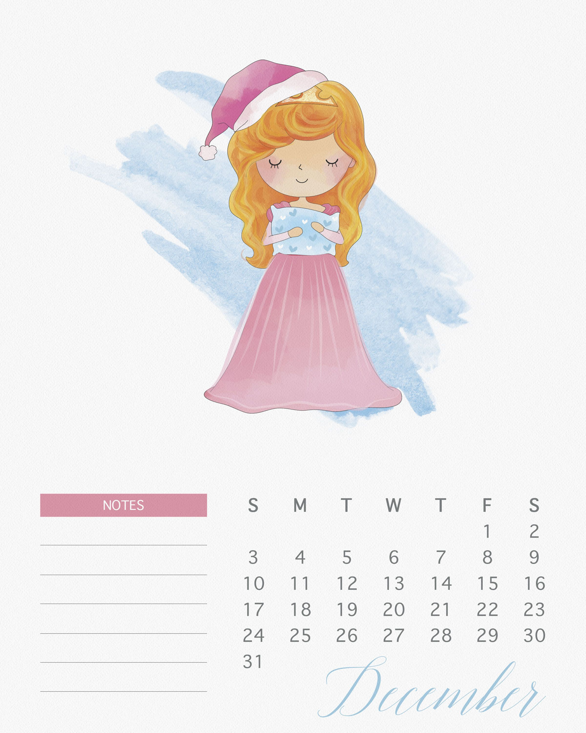 thecottagemarket.com 2017Calendars TCM-Princess-Calendar-12-December ...
