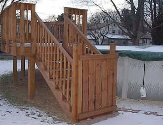 Google Image Result For Harmonycarpentry Decks And Stairs Above Ground Pool Stai