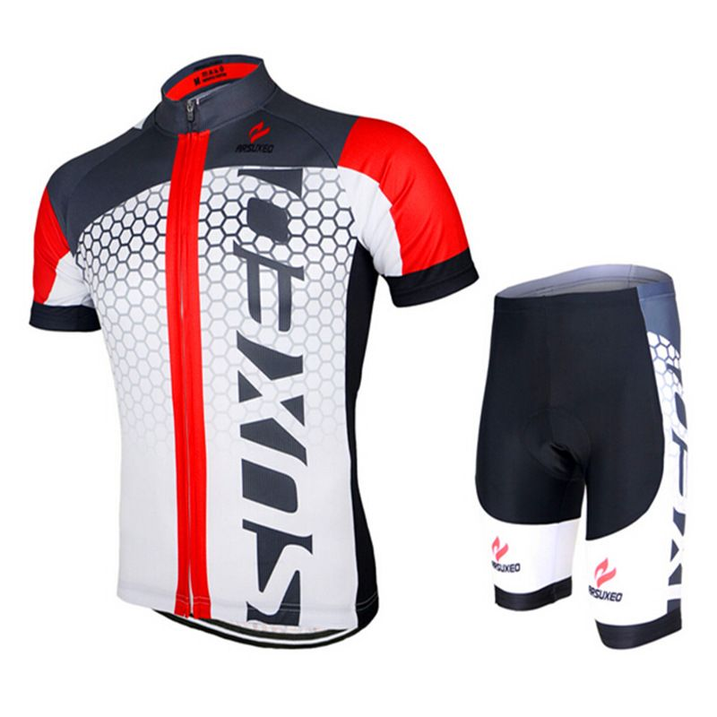 999d25d17 ARSUXEO Men s Cycling Short Sleeve Jersey Sets Summer MTB Bike Bicycle  Outdoor Sportswear Clothing Shirt Shorts