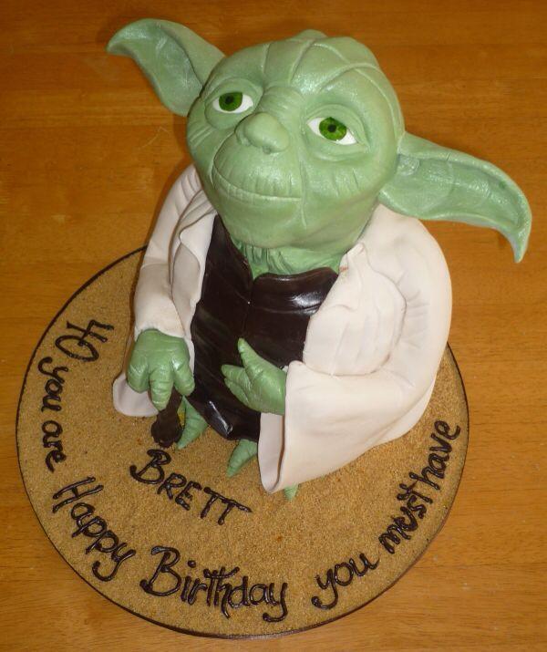 Yoda 40th Birthday Cake On Global Geek News.