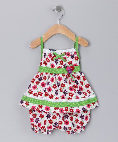 Take a look at this Green Floral Dress & Bloomers - Infant by Stock the Closet: Girls' Apparel on #zulily today!
