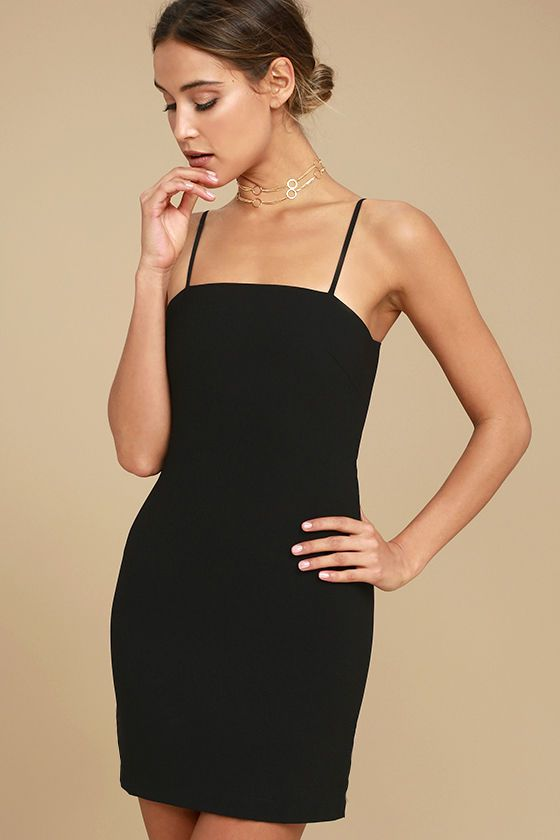a962d0e42f Lulus Exclusive! The Toast to Life Black Mini Dress is so cute