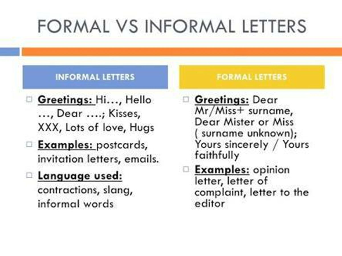 The differences between formal informal language writing the differences between formal informal language kristyandbryce Images