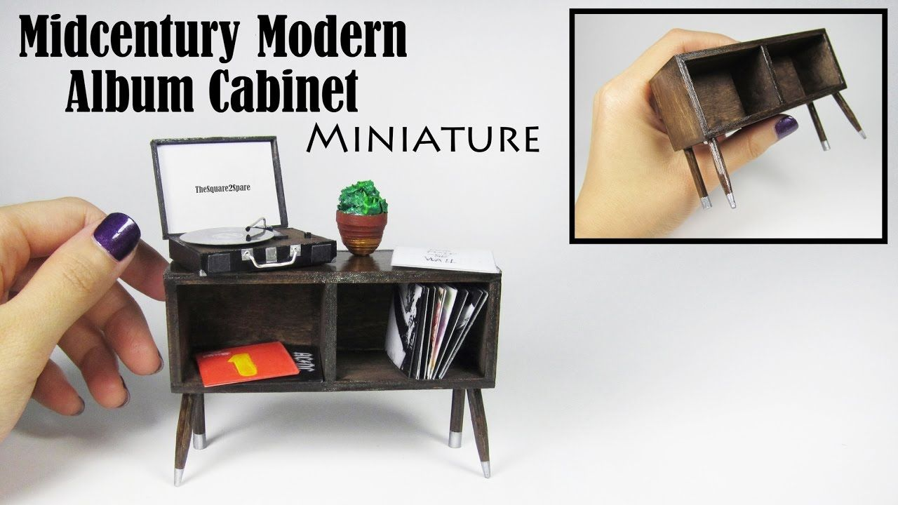 Tutorial Miniature Mid Century Modern Album Cabinet With Images