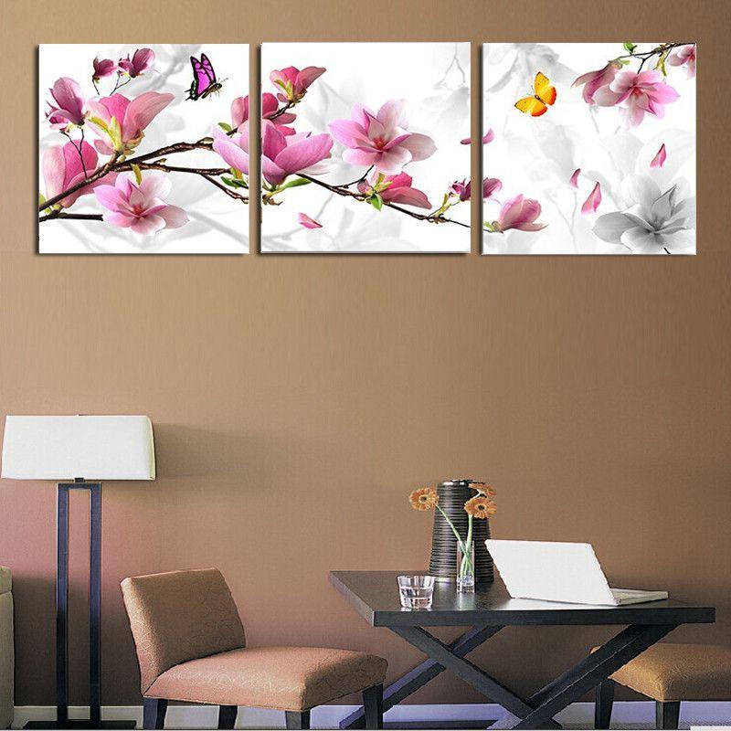 Compra Set de 3 cuadros decorativos diseño floral online | Linio ...