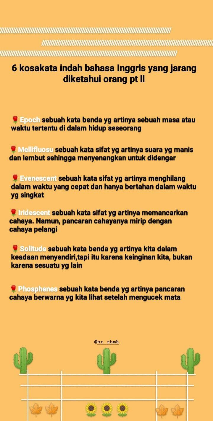 Bahasa Indonesia itu Indah, Ini 30 Kata dalam KBBI yang