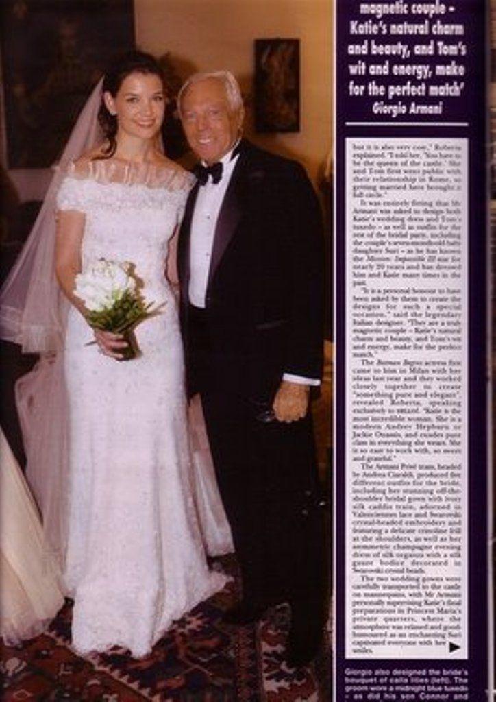 Katie Holmes And Giorgio Armani Beautiful Wedding Dresses