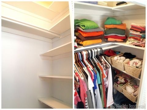 Add Custom DIY Shelving To Your Builder Basic Closet... And Get SO MUCH