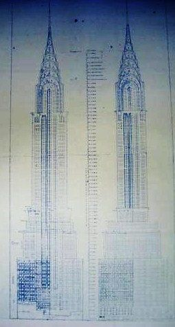Chrysler building in new york blueprint by blueprintplace on etsy chrysler building in new york blueprint by blueprintplace on etsy 1499 malvernweather