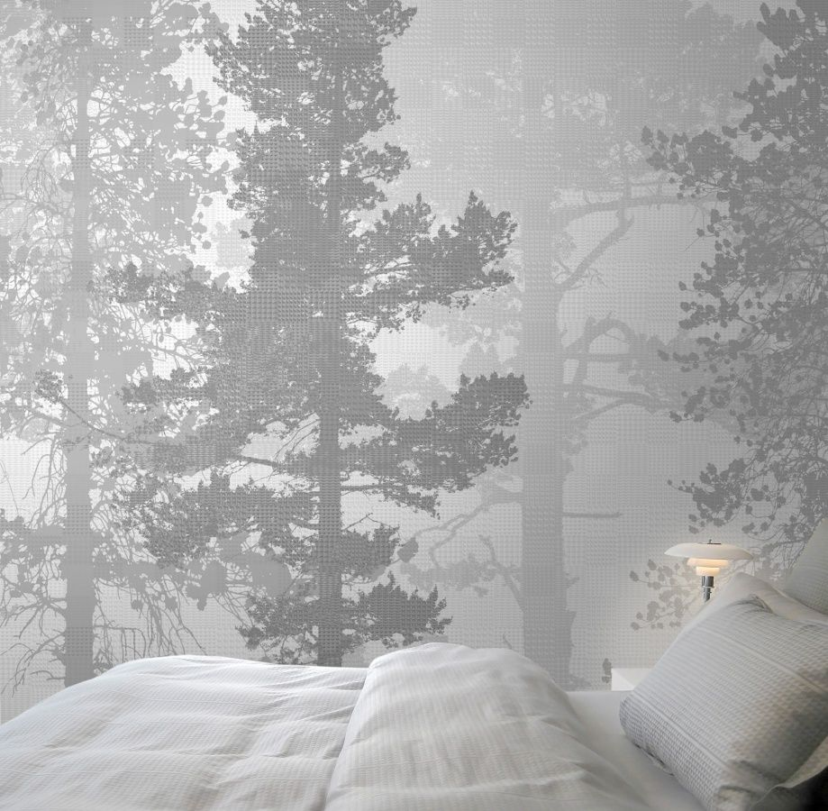 5 Bedroom Ideas For Autumn From The White Company: Stockholm Swedish Trees Painted Mural