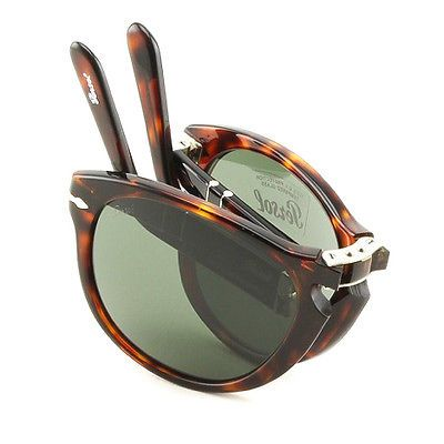 4a818d1530 Persol PO0714 Sunglasses 24 31 Havana Brown   Grey Crystal Foldable 714 54  mm