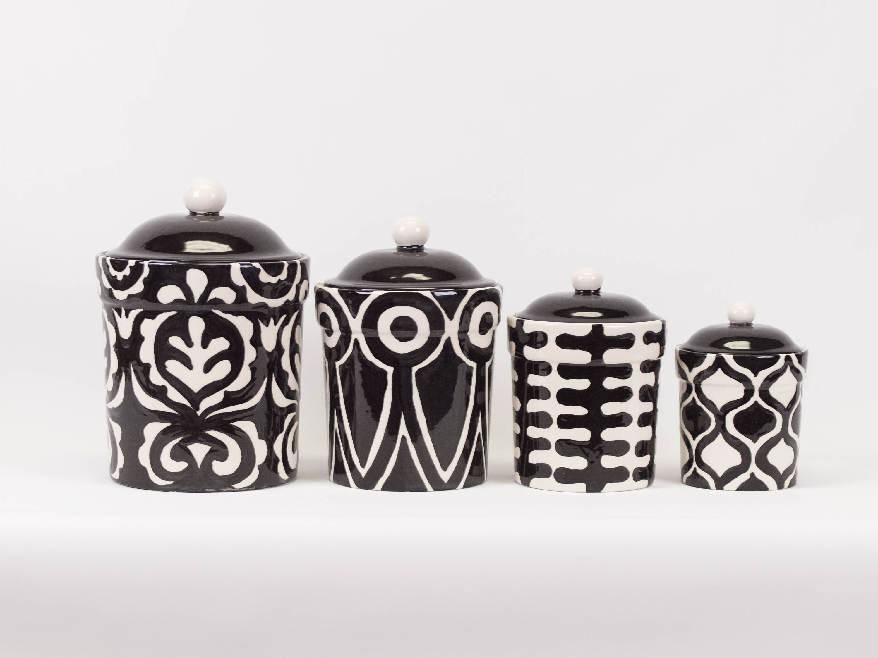 Kitchen Canister Set Canister Set Kitchen Canisters Ceramic Canister ...