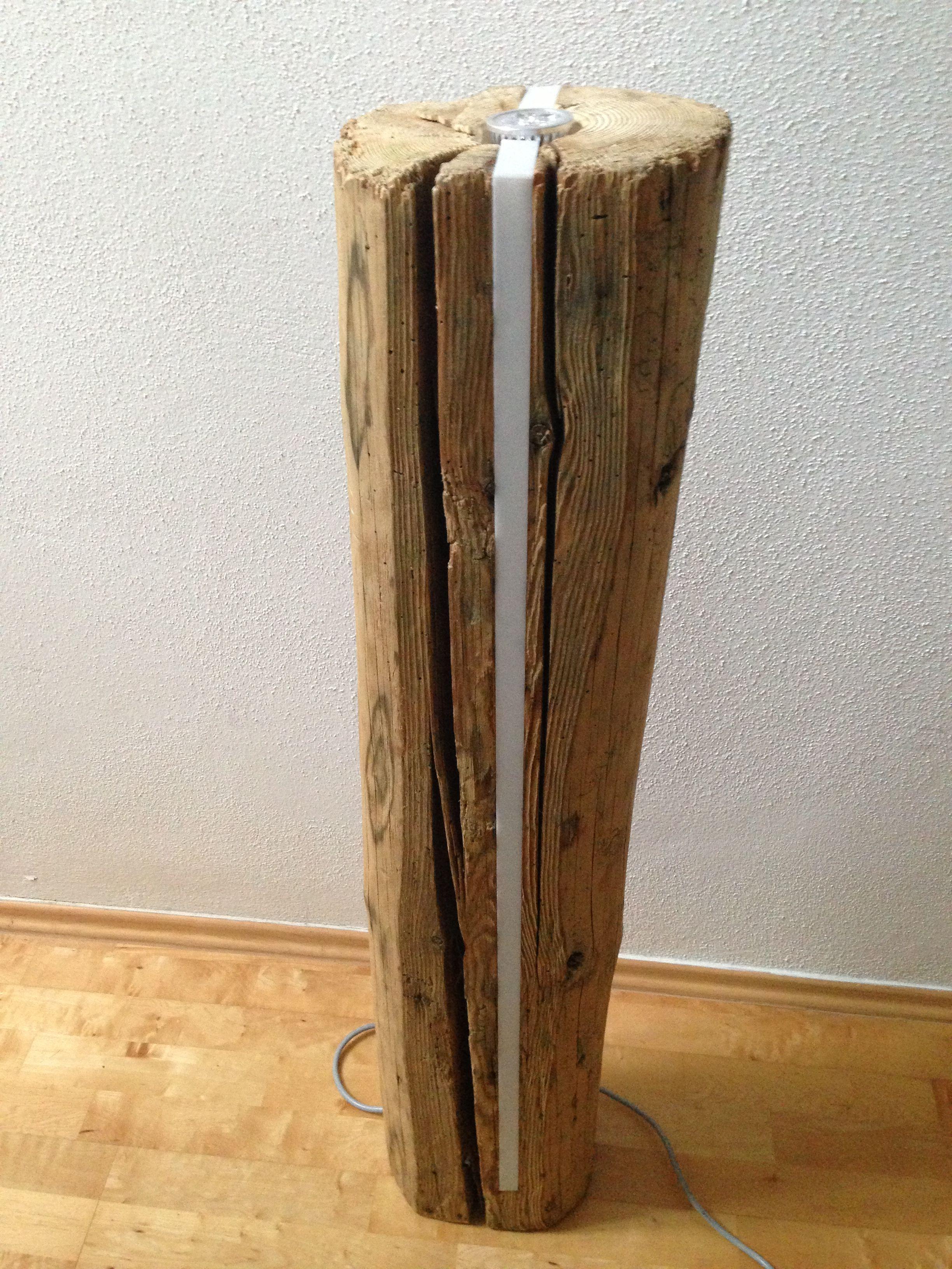 Deko led Lampe aus sehr altem Holz, Lichtsäule mit Stromsparenden ...