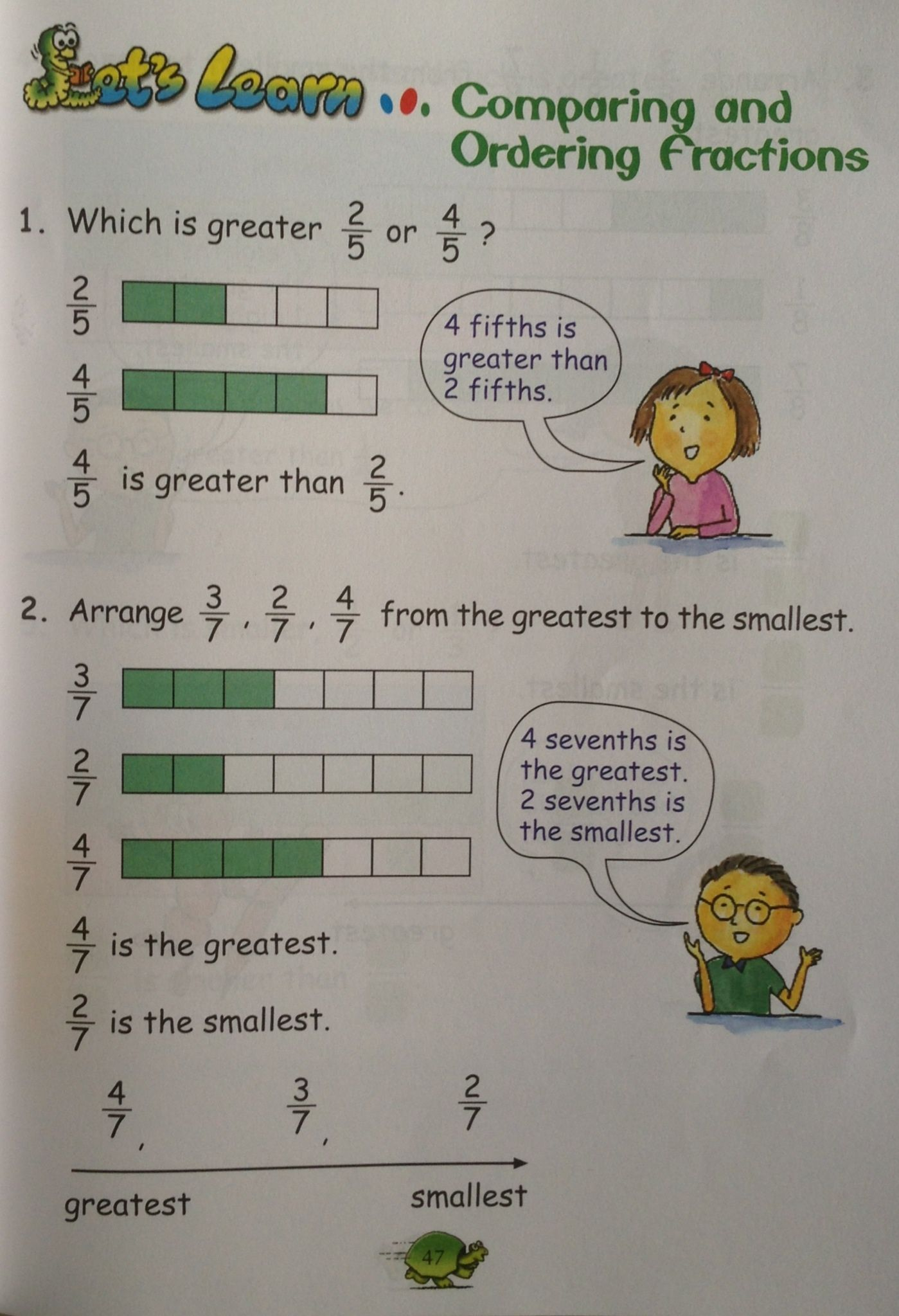 Learning Fractions Via Models A Grade 2 Textbook Example