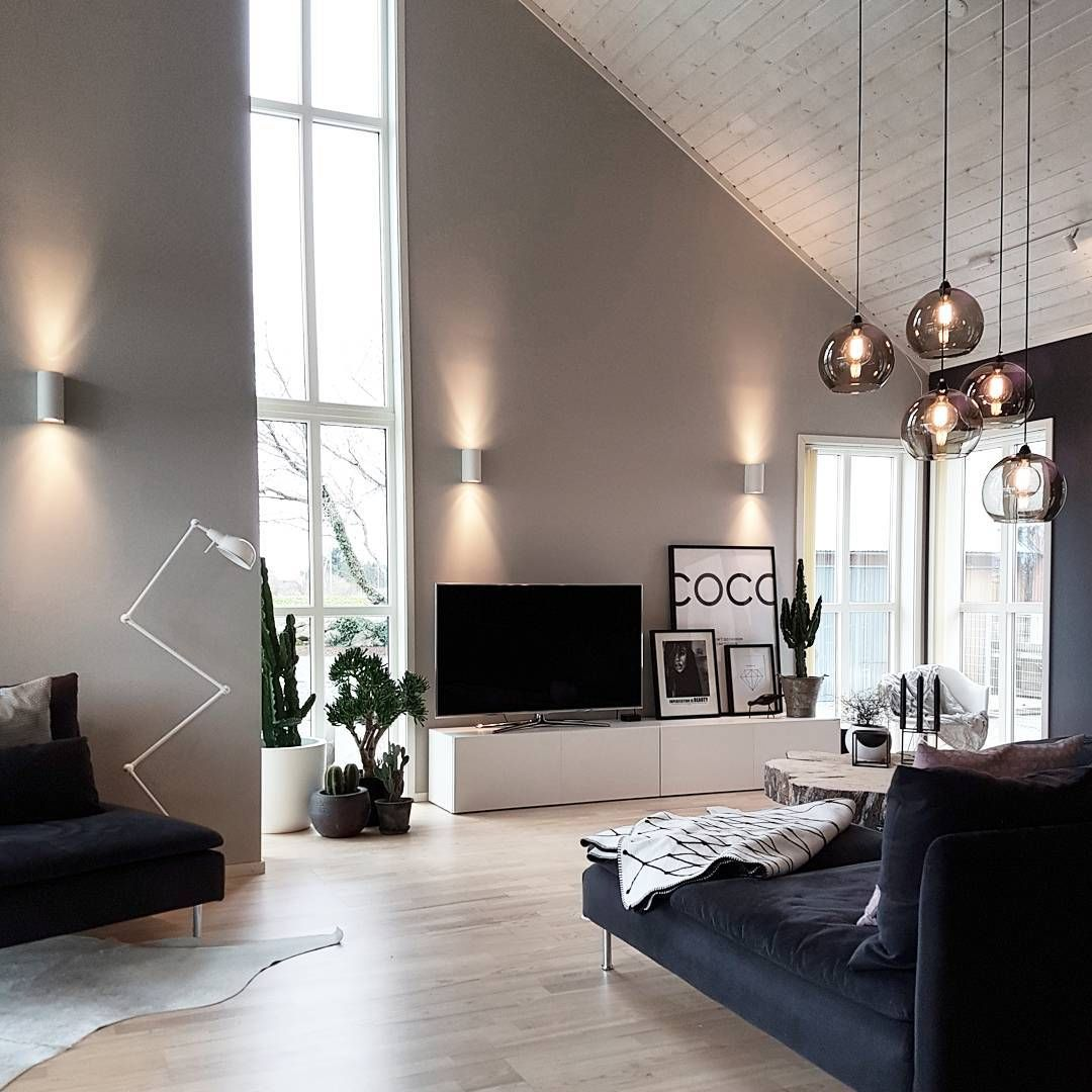 Wohnzimmer Wandfarbe Modern: Wandfarbe, Wandleuchten