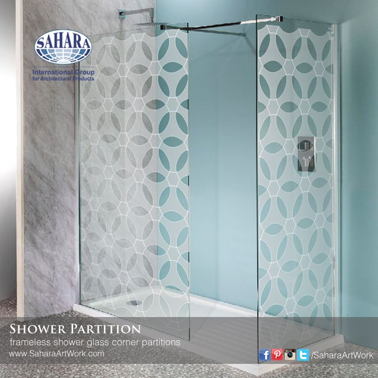 New Corner Shower Glass Partitions With Our New Sandblasted Design