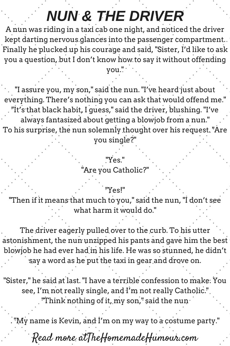 The nun the taxi driver a short funny story funny jokes short funny joke 31 fandeluxe Images