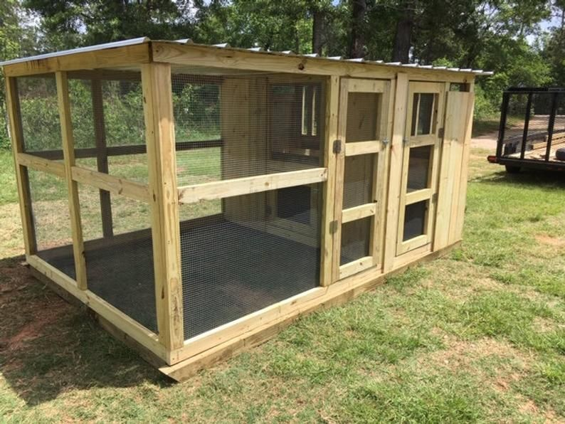 Chicken Coop 8 X 12 House Run Roost Animal Nesting Box Cage