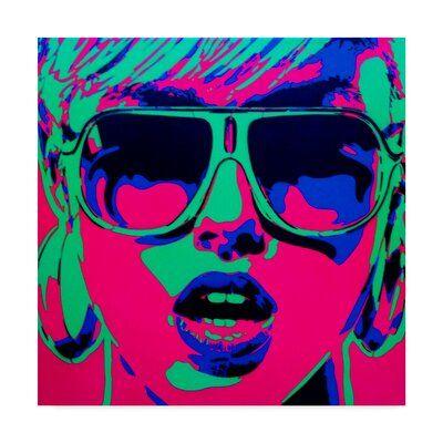 Trademark Art 'Pop Star Pink Green' Graphic Art Print on Wrapped Canvas | Wayfair