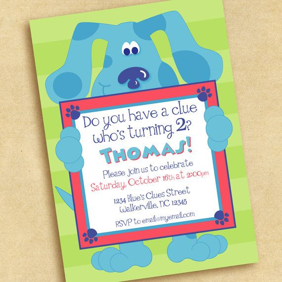 Blues Clues Birthday Party Invitation By Punkinprints On Etsy 1500