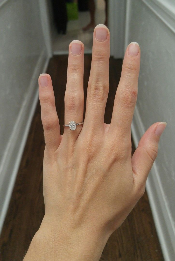 Classic comfort fit solitaire engagement ring in 15mm