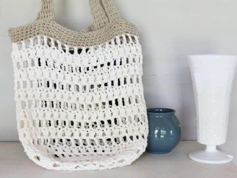 Beginner Crochet Market Tote Bag ⋆ Crochet Bag Tutorial | CROCHET ...
