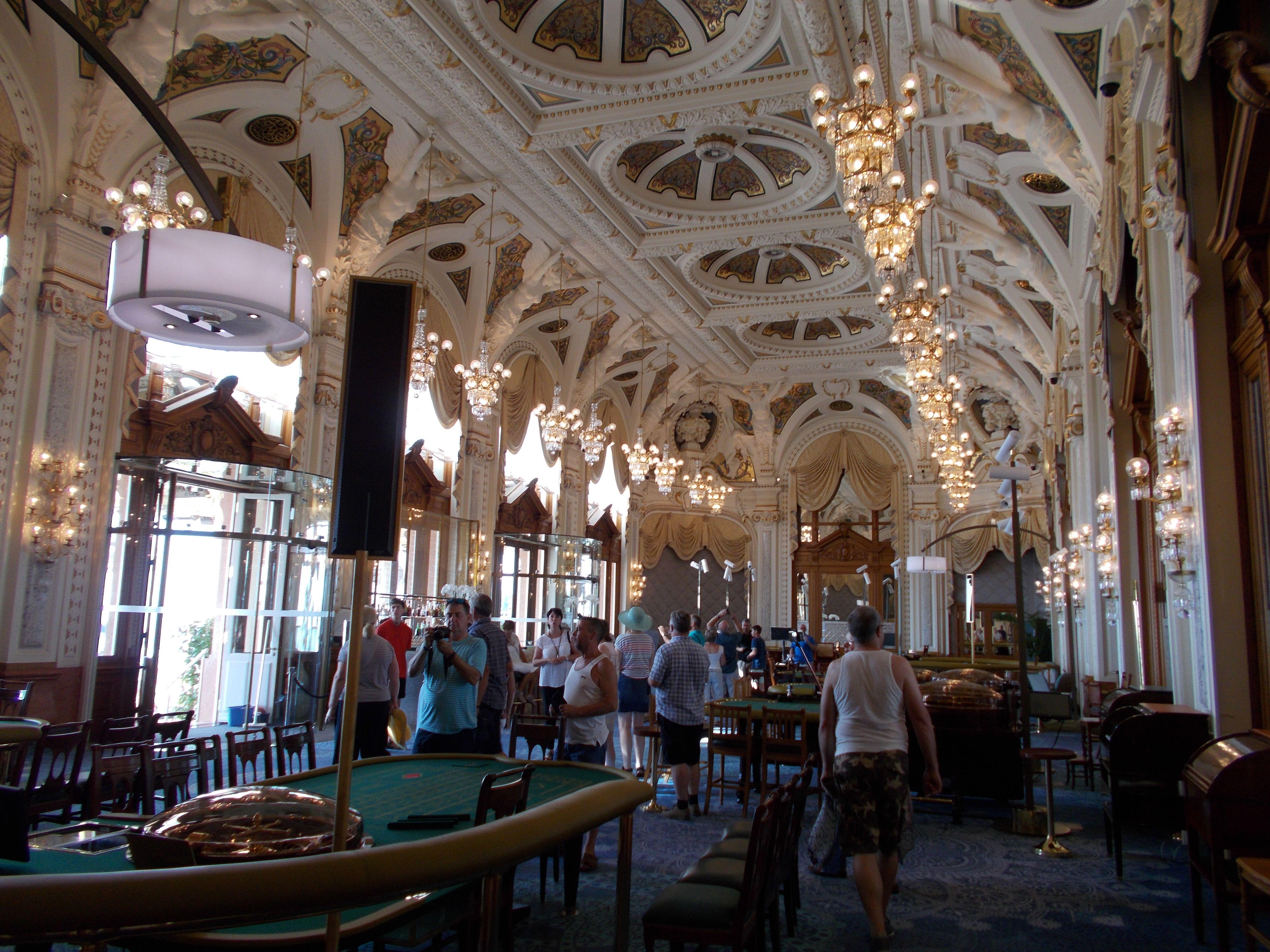 Inside the casino at Monte Carlo