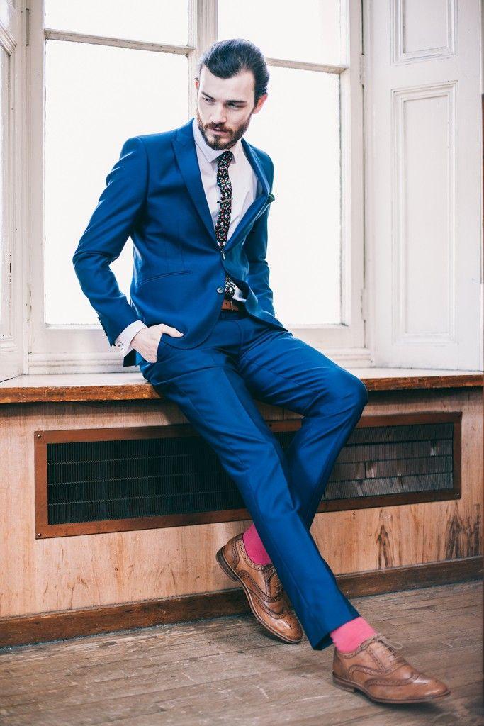 ONESIX5IVE Skinny Fit Royal Blue Two Piece Suit   Suit   Pinterest ...