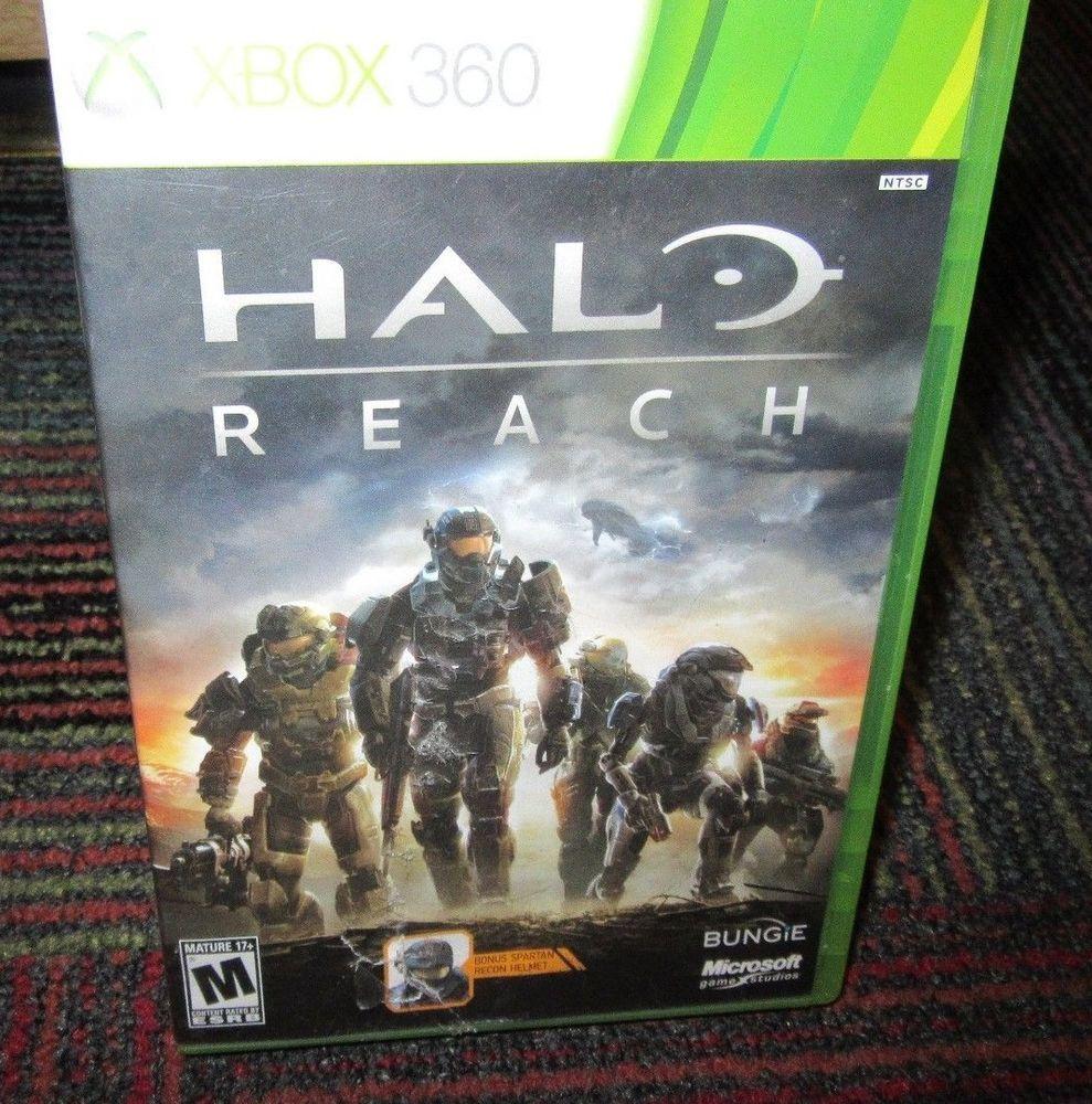 HALO: REACH GAME F/ MICROSOFT XBOX 360, CASE, GAME, MANUAL + HELMET KEY, GUC