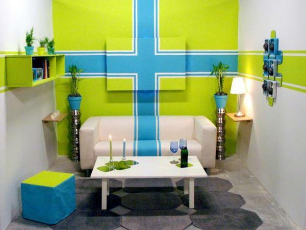 Wandgestaltung Mit Farbe U2013 23 Kreative Ideen Für Akzentfarben #akzentfarben  #farbe #ideen #